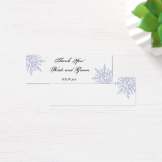 Blue Snowflake Winter Wedding Thank You Favor Tags