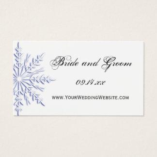 Blue Snowflake Winter Wedding Website Card