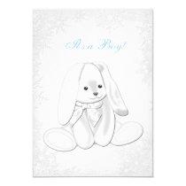 Blue Snowflake Winter Wonderland Baby Boy Shower Card