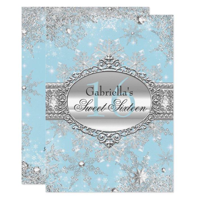 Blue Snowflake Winter Wonderland Sweet