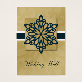 blue snowflake wishing well cards