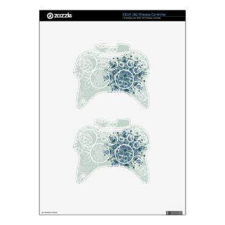 Blue Snowflake Xbox 360 Controller Skins