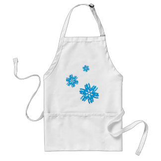 Blue Snowflakes Adult Apron