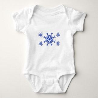 Blue Snowflakes Baby Bodysuit