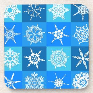Blue Snowflakes Beverage Coaster
