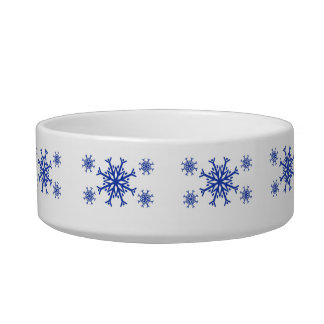 Blue Snowflakes Bowl