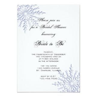 Blue Snowflakes Bridal Shower Invitation