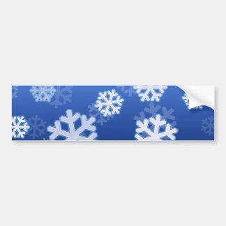 Blue Snowflakes Bumper Sticker