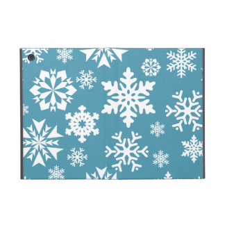 Blue Snowflakes Christmas Holiday Winter Pattern Case For iPad Mini