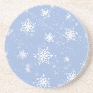 Blue Snowflakes Coaster