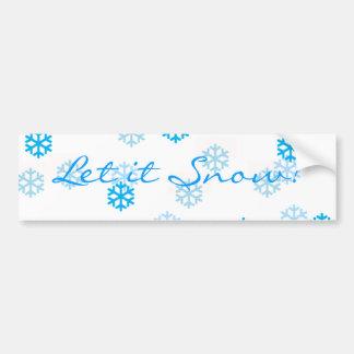 Blue Snowflakes Customize Me Bumper Sticker