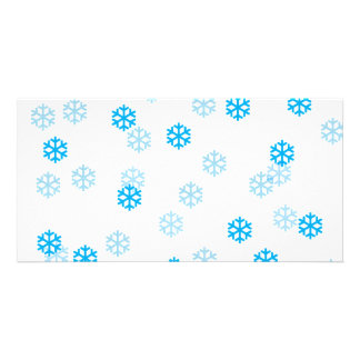 Blue Snowflakes Customize Me Card