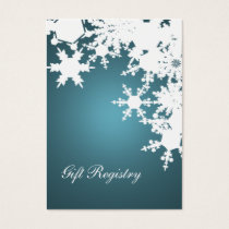blue snowflakes Gift registry  Cards