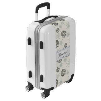Blue Snowflakes Gold Stars Silver Diamonds Luggage