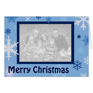 Blue Snowflakes Greeting Card