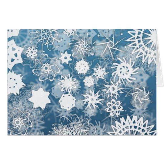 Blue Snowflakes Holiday Card