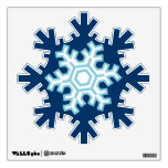Blue Snowflakes Holiday Christmas Wall Decals