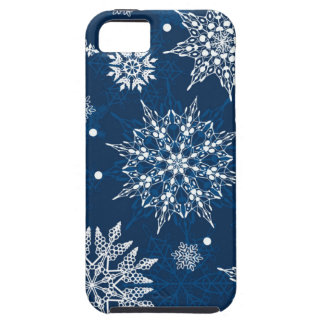 Blue Snowflakes iPhone Case Christmas