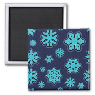 Blue Snowflakes Magnet