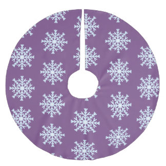 Blue Snowflakes Pattern Brushed Polyester Tree Skirt