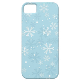 Blue Snowflakes Pattern iPhone 5 Cases