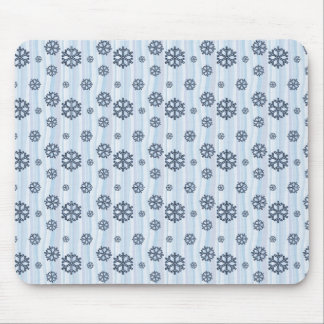 Blue snowflakes pattern design mouse pad