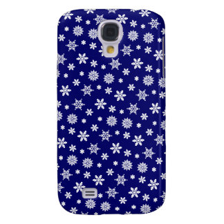 Blue Snowflakes Pattern iPhone 3G/3GS Case