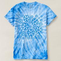 Blue Snowflakes Pattern T-shirt