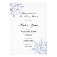 Blue Snowflakes Post Wedding Brunch Invitation