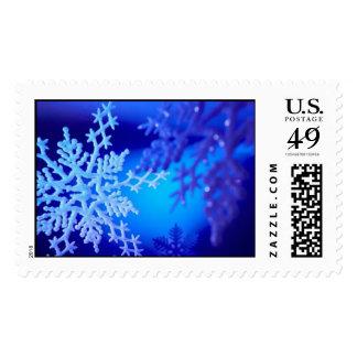 Blue Snowflakes Postage