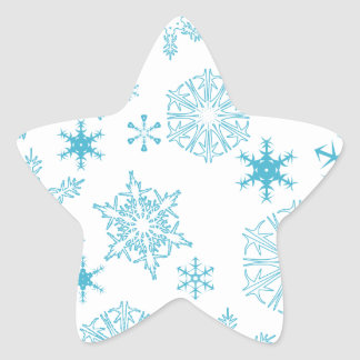 blue snowflakes star stickers