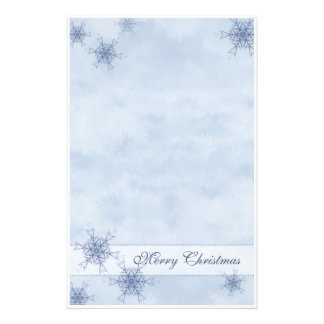 Blue Snowflakes Stationery