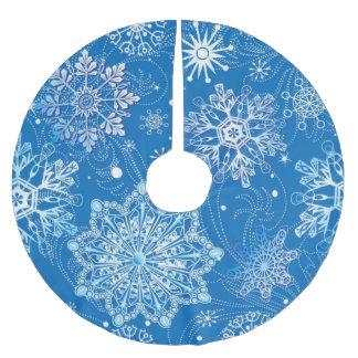 BLUE SNOWFLAKES VINTAGE CHRISTMAS TREE SKIRT