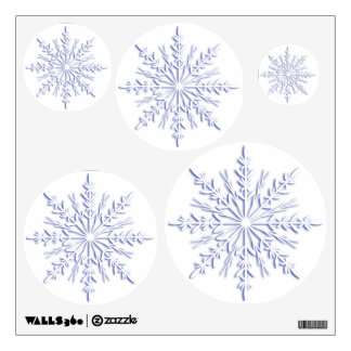 Blue Snowflakes Wall Decals