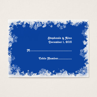 Blue Snowflakes Wedding Place Cards