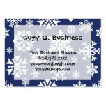 Blue Snowflakes Winter Christmas Holiday Pattern Large Business Cards (Pack Of 100)