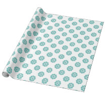 blue snowflakes winter holidays gift paper wrapping paper