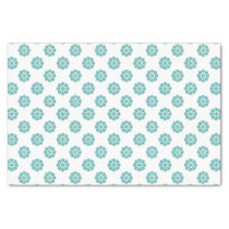 blue snowflakes winter holidays pattern tissue paper