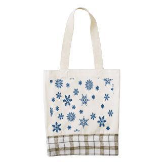 Blue Snowflakes Zazzle HEART Tote Bag
