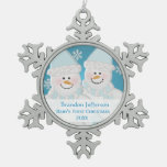 Blue Snowman : Baby's First Christmas Ornament