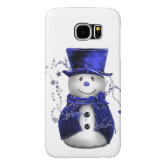 Blue Snowman Christmas Samsung Galaxy S6 Case