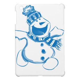 Blue snowman iPad mini covers