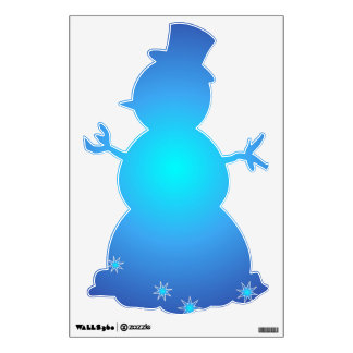 Blue Snowman Wall Decal