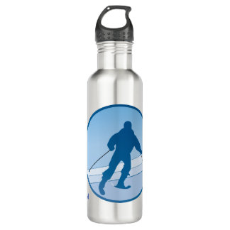 Blue Snowski Personalized Water Bottle