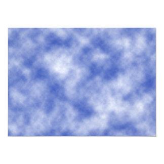 Blue Snowy Background Card