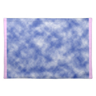 Blue Snowy Background Cloth Place Mat
