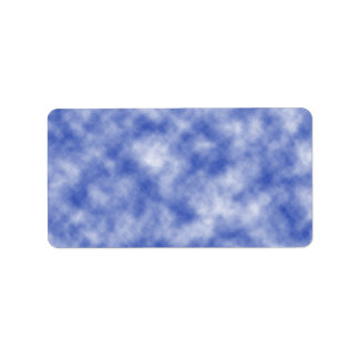 Blue Snowy Background Label