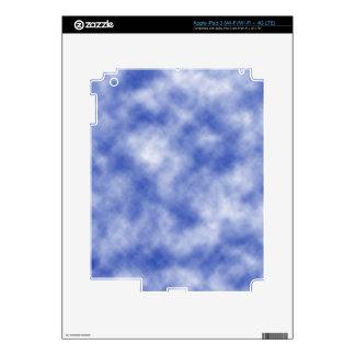 Blue Snowy Background iPad 3 Skins