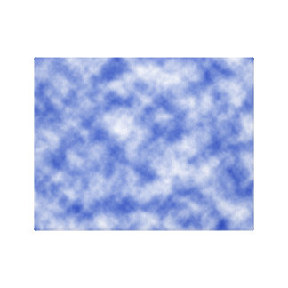 Blue Snowy Background Stretched Canvas Prints
