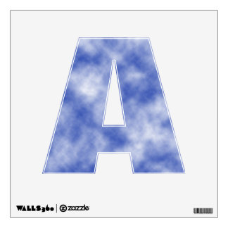 Blue Snowy Background Wall Decal